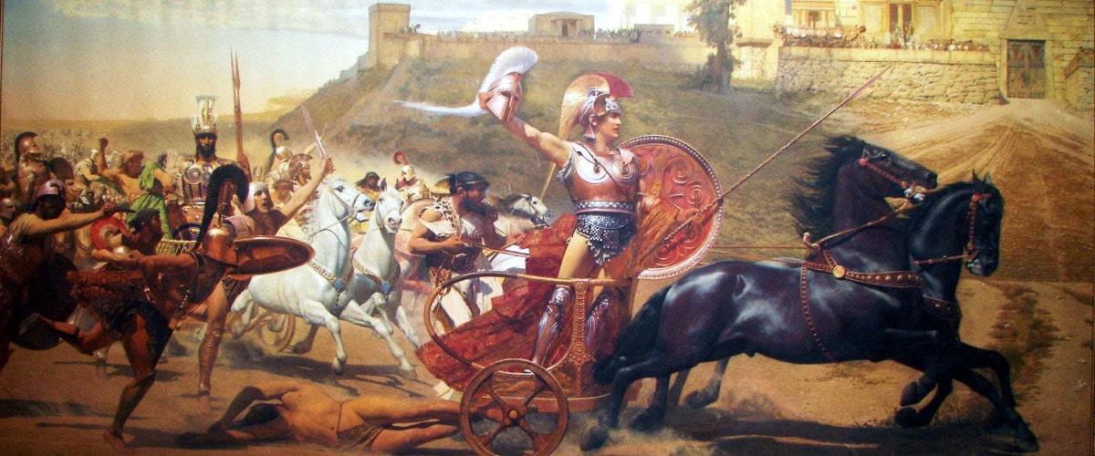 The Greek hero Achilles