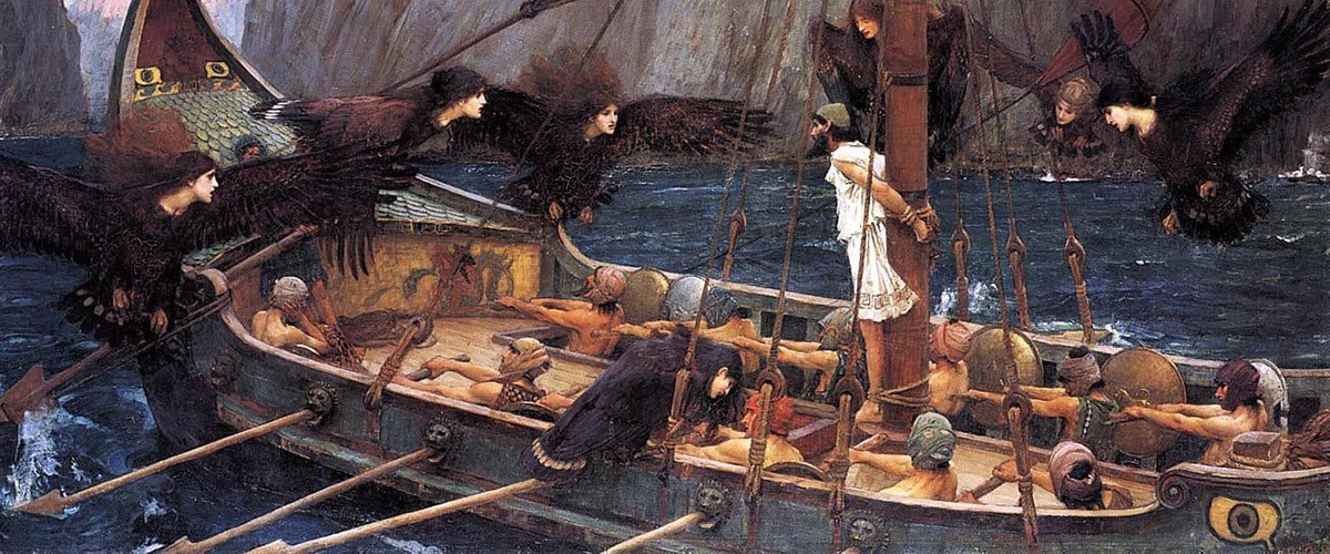 Odysseus and the sirens. Homer's Odyssey.