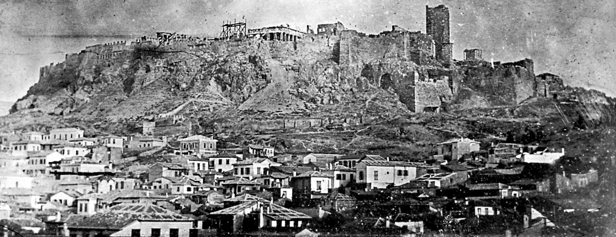 First photo of the Acropolis, Athens 1942
